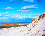 Sand dune at Chapin Beach in Dennis, Cape Cod