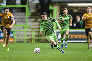 Forest Green Rovers Jack Aitchison(29), on loan from Celtic runs forward during the EFL Sky Bet League 2 match between Forest Green Rovers and Crewe Alexandra at the New Lawn, Forest Green, United Kingdom on 26 October 2019.
