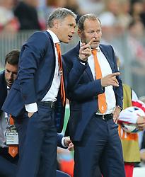 01-06-2016 POL: Polen - Nederland, Gdansk<br /> Oefenwedstrijd dat met 2-1 wordt gewonnen / Marco van Basten, Danny Blind (NED)<br /> <br /> ***NETHERLANDS ONLY***