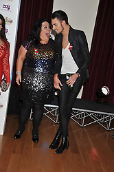LISA RILEY and RYLAN CLARK at West End Eurovision 2013 held at the  Dominion Theatre, London on 23rd May 2013.