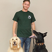 Josh at with his dogs