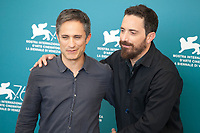 Venice, Italy, 31st August 2019, Gael García Bernal and Director Pablo Larraín at the photocall for the film Ema at the 76th Venice Film Festival, Sala Grande. Credit: Doreen Kennedy/Alamy Live News
