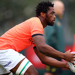 DURBAN, SOUTH AFRICA - SEPTEMBER 01: Siya Kolisi  during the South African national rugby team training session at Peoples Park on September 01, 2015 in Durban, South Africa. (Photo by Steve Haag/Gallo Images)