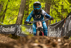 Monika Hrastnik of Slovenija during Mercedes-Benz UCI Mountain Bike World Cup competition final day in Bike Park Pohorje, Maribor on 28th of April, 2019, Slovenia.  . Photo by Grega Valancic / Sportida