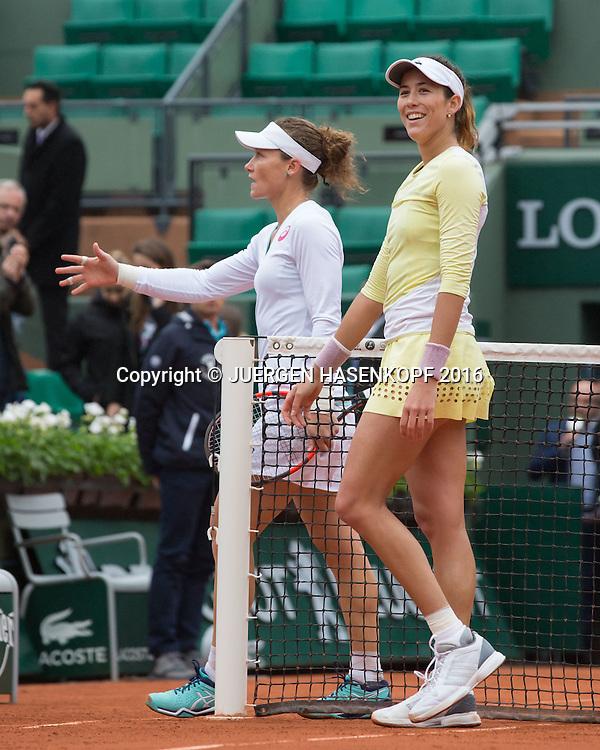 Garbine Muguruza (ESP) freut sich ueber ihren Sieg ueber Sam Stosur,Jubel,Emotion,Freude,<br /> <br /> Tennis - French Open 2016 - Grand Slam ITF / ATP / WTA -  Roland Garros - Paris -  - France  - 3 June 2016.