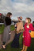 LADY NATASHA RUFUS ISAACS; EDWINA HADDEN; NATALIE PINKHAM;, Hennessy Gold Cup, The Racecourse Newbury. 30 November 2013.
