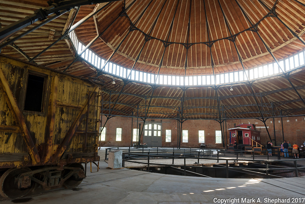 The Martinsburg Roundhouse in Martinsburg, W.Va., has been designated a National Historic Landmark. The main attraction of the Center is the completely enclosed 1866 cast iron frame roundhouse. Photo by Mark A. Shephard