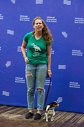 Pictured: Caroline Emma Criado-Perez amnd her dog Poppy<br />