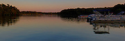 18 July 2014:  Dusk settles on  Dawson Lake located in Moraine View State Park maintained by the Illinois Department of Natural Resources (IDNR) near Le Roy Illinois This images has been created in part using High Dynamic Range (HDR) or Panoramic Stitching processes.