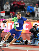 Daniel Stahl (SWE) wins the discus with a throw of 228-3 (69.57m)during the Bauhaus-Galan in a IAAF Diamond League meet at Stockholm Stadium in Stockholm, Sweden on Thursday, May 30, 2019. (Jiro Mochizuki/Image of Sport)