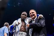 Souleymane CISSOKHO (FRA) and Richard Schaefer during the Boxing event, La Conquete Tony Yoka, round 4, heavyweight boxing bout between Tony Yoka (FRA) and Cyril Leonet (FRA) on April 7, 2018 at Dome de Paris - Palais des Sports in Paris, France - Photo Pierre Charlier / ProSportsImages / DPPI