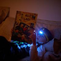Ari Carl með Lego höfuðljósið góða.
