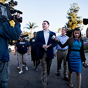 Mayoral candidate Carl DeMaio votes at his polling station in Rancho Bernardo.