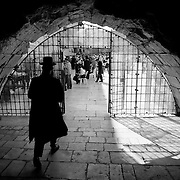 Entrance of the Tunnel of the Asmoneos, next to the Wall of the Lamentations.Jerusalem