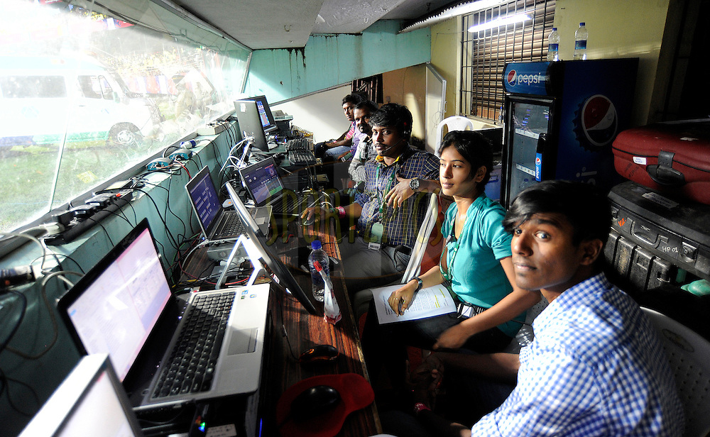 LED control room during match 34 of the Indian Super League (ISL) season 2 between Kerala Blasters FC and AtlŽtico de Kolkata held at the Jawaharlal Nehru Stadium, Kochi, India on the 10th November 2015.<br /> <br /> Photo by Pal Pillai / ISL/ SPORTZPICS