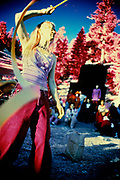 """Mountain Girl"" Photo Print, shot with color infrared film."