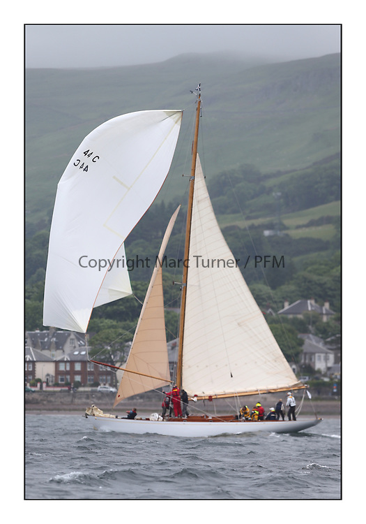 Day two of the Fife Regatta,Passage race to Rothesay.<br /> <br /> Solway Maid, Roger Sandiford, GBR, Bermudan Cutter, Wm Fife 3rd, 1940<br /> * The William Fife designed Yachts return to the birthplace of these historic yachts, the Scotland&rsquo;s pre-eminent yacht designer and builder for the 4th Fife Regatta on the Clyde 28th June&ndash;5th July 2013<br /> <br /> More information is available on the website: www.fiferegatta.com