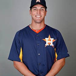 Feb 21, 2013; Kissimmee, FL, USA; Houston Astros outfielder Jake Goebbert during photo day at Osceola County Stadium. Mandatory Credit: Derick E. Hingle-USA TODAY Sports