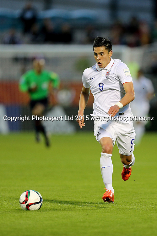 Rubio Rubin of USA in the Group A FIFA U20 World Cup Match between USA and Myanmar at Northlands Event Centre, Whangarei, Northland, New Zealand, Saturday, May 30, 2015. Copyright photo: David Rowland / www.photosport.co.nz