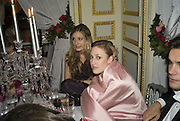 TANSY ASPINALL AND LADY TATIANA MOUNTBATTEN, Crillon Debutante Ball 2007,  Crillon Hotel Paris. 24 November 2007. -DO NOT ARCHIVE-© Copyright Photograph by Dafydd Jones. 248 Clapham Rd. London SW9 0PZ. Tel 0207 820 0771. www.dafjones.com.