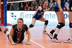20180218 NED: Bekerfinale Eurosped - Sliedrecht Sport, Hoogeveen <br />Rochelle Wopereis (12) of Team Eurosped, Lisa Vossen (12) of Sliedrecht Sport <br />&copy;2018-FotoHoogendoorn.nl