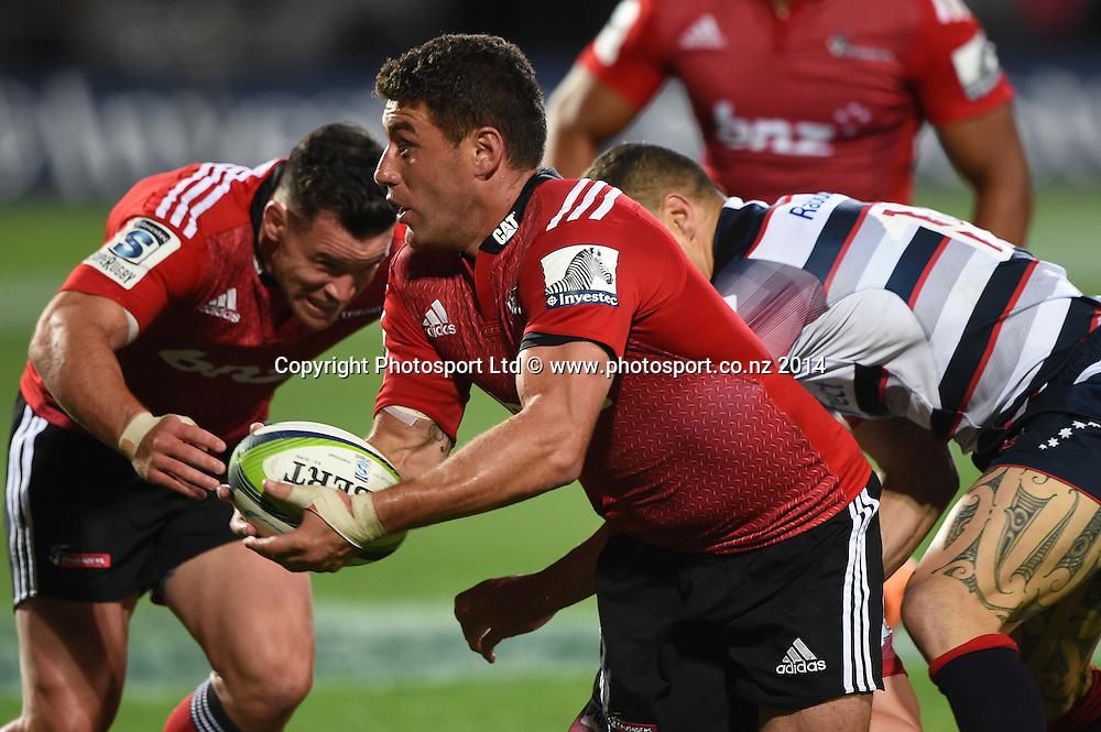 Kieron Fonotia. Crusaders v Rebels. Super Rugby. Christchurch, New Zealand. Friday 13 February 2015. Copyright Photo: Andrew Cornaga / www.photosport.co.nz
