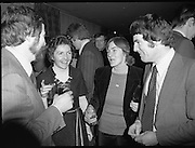 Accountants Lunch At Jurys Hotel.   (L57)..1977..14.12.1977..12.14.1977..!4th December 1977..Today saw the  holding of the Accountants Assoc Of Ireland's annual lunch. The guest speaker wasMrs Ib Jorgensen wife of the renowned designer Ib Jorgensen..Pictured at the accountants lunch were Mr and Mrs Anthony Barden and Mr and Mrs Oliver Sheridan.