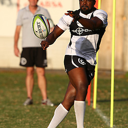 DURBAN, SOUTH AFRICA - MAY 03: Lwazi Mvovo during the Cell C Sharks training session at Growthpoint Kings Park on May 03, 2016 in Durban, South Africa. (Photo by Steve Haag/Gallo Images)