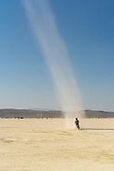 It's always fun to ride inside a dust devil like this.