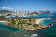 Magic island, Wailkiki, Honolulu, Oahu