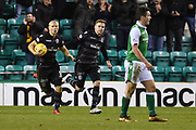 Curtis Main brings the ball back to the centre spot after scoring goal during the Ladbrokes Scottish Premiership match between Hibernian and Motherwell at Easter Road, Edinburgh, Scotland on 31 January 2018. Picture by Kevin Murray.