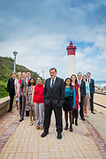 Law firm group photos with a difference on the Umhlanga promenade.