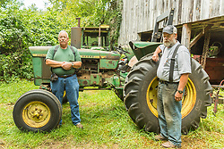 Byron (left) and George Leonhard on their family farm in North Andover, Massachusetts.