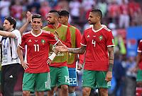 FUSSBALL WM 2018  Vorrunde  Gruppe B --- Portugal - Marokko           20.06.2018 Facal Fajr (li) und Manuel Da Costa (re, beide Marokko) sind nach dem Abpfiff enttaeuscht
