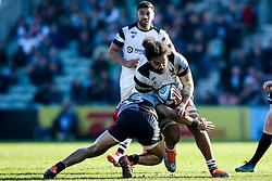 Chris Vui of Bristol Bears is tackled - Mandatory by-line: Robbie Stephenson/JMP - 23/02/2019 - RUGBY - Twickenham Stoop - London, England - Harlequins v Bristol Bears - Gallagher Premiership Rugby