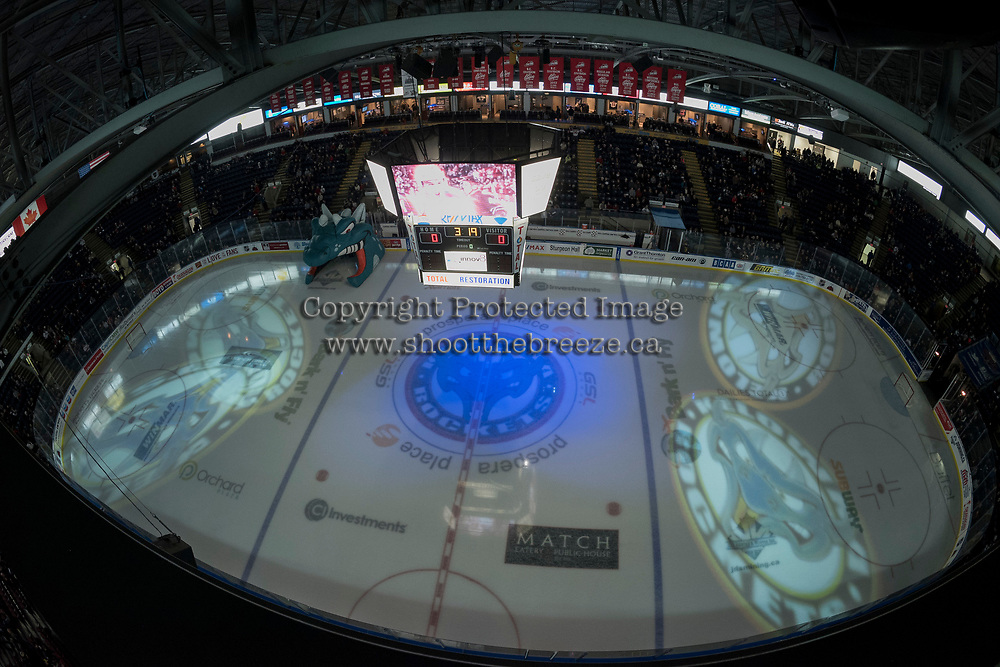 KELOWNA, CANADA - MARCH 3: The Kelowna Rockets take on the Spokane Chiefs  on March 3, 2018 at Prospera Place in Kelowna, British Columbia, Canada.  (Photo by Marissa Baecker/Shoot the Breeze)  *** Local Caption ***