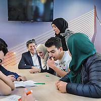 Nederland, Rotterdam, 27 januari 2017.<br />De enige islamitische middelb school in Nederland  het Avicenna College.<br /><br /><br /><br />Foto: Jean-Pierre Jans