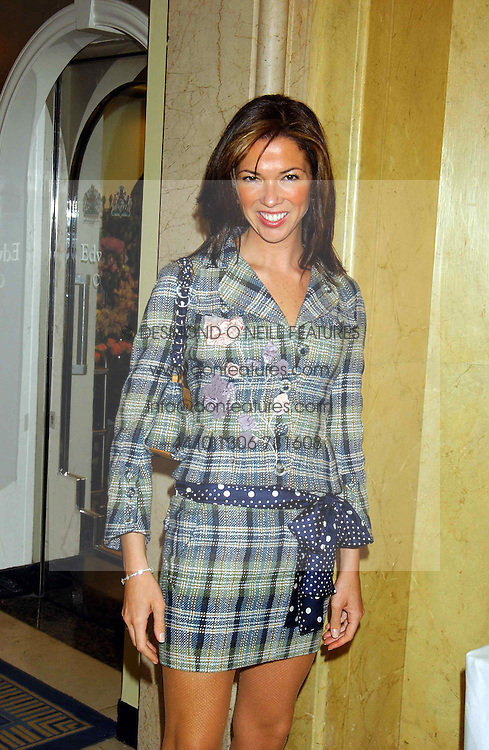 HEATHER KERZNER at a lunch and fashion show by Bruce Oldfield in aid of Barnados and held at Claridges, Brook Street, London W1 on 22nd September 2004.<br />
