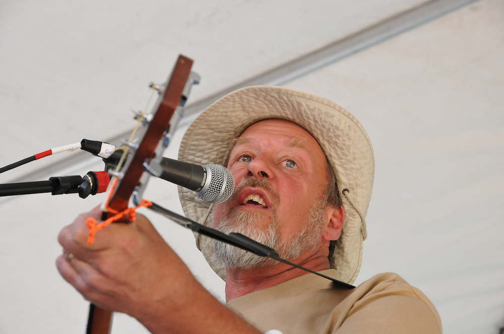 Eb Eberlein in concert with his band, Eb's Camp Cookin', at the 2011 Tucson Folk Festival in Downtown Tucson, Arizona.