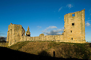 Warkworth Castle (built from the 12th to the 15th century), Warkworth, St Oswald's Way / Northumberland Coast Path, Northumberland, UK