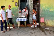 Sandwich stand in Baracoa, Guantanamo, Cuba.