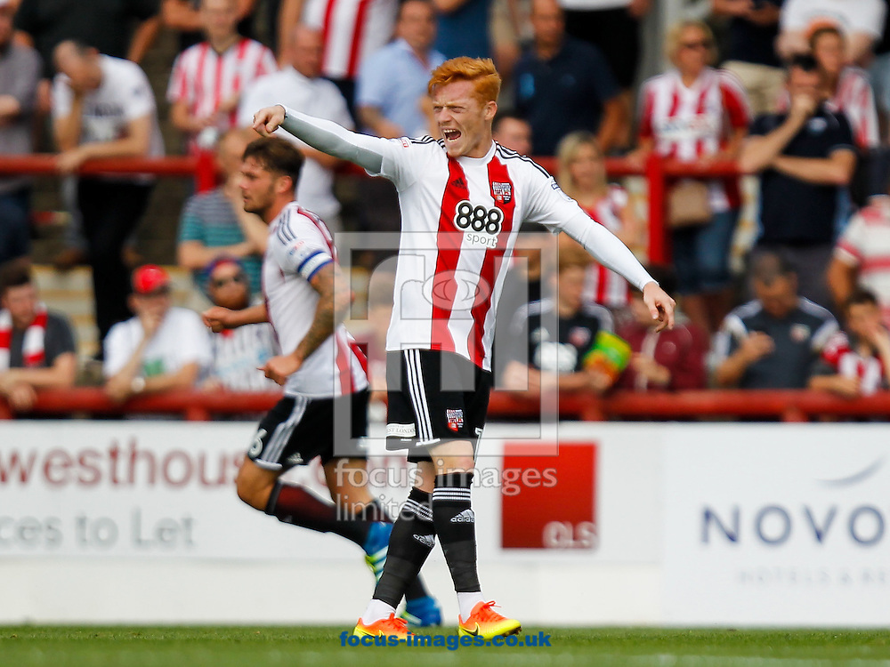 Ryan Woods of Brentford during the Sky Bet Championship match between Brentford and Sheffield Wednesday at Griffin Park, London<br /> Picture by Mark D Fuller/Focus Images Ltd +44 7774 216216<br /> 27/08/2016