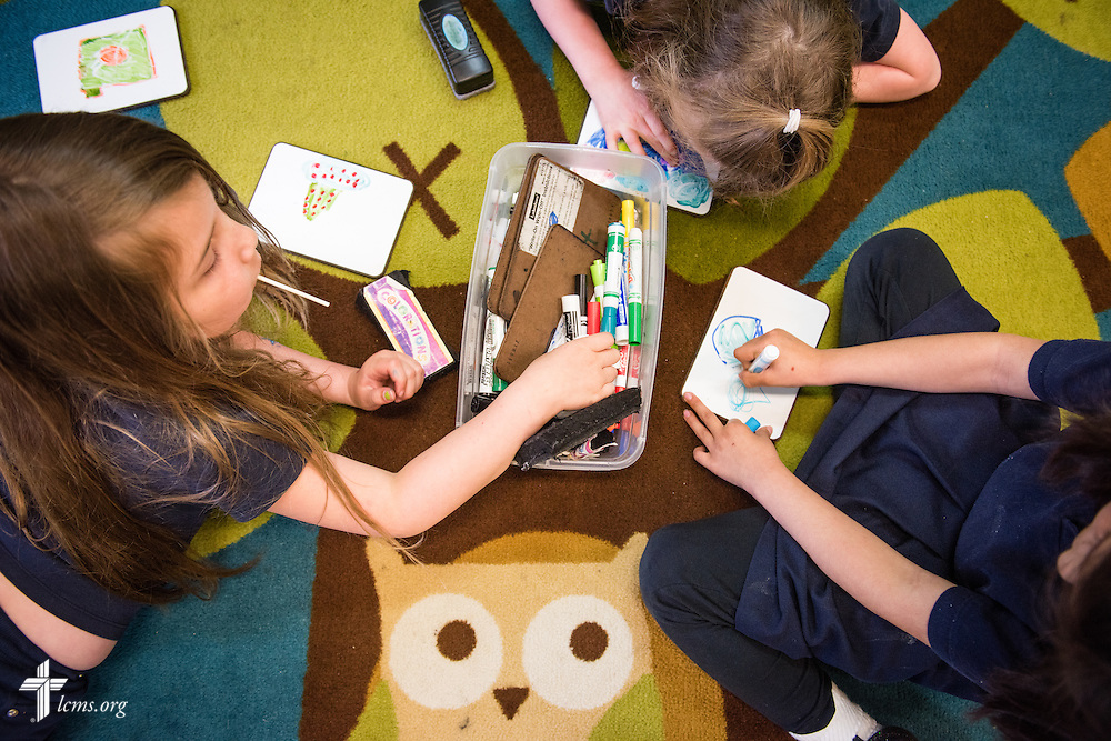 Students work on classwork at the Renaissance School, part of Lutheran Urban Mission Initiative, Inc., on Wednesday, May 20, 2015, in Mt. Pleasant, Wis. LCMS Communications/Erik M. Lunsford