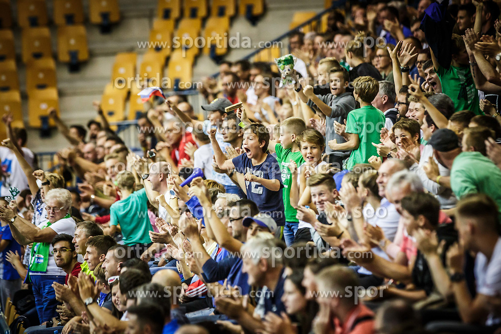 Fans of Slovenia during friendly basketball match between Slovenia and Croatia , on September 8, 2018 in Arena Zlatorog, Celje, Slovenia. Photo by Ziga Zupan / Sportida