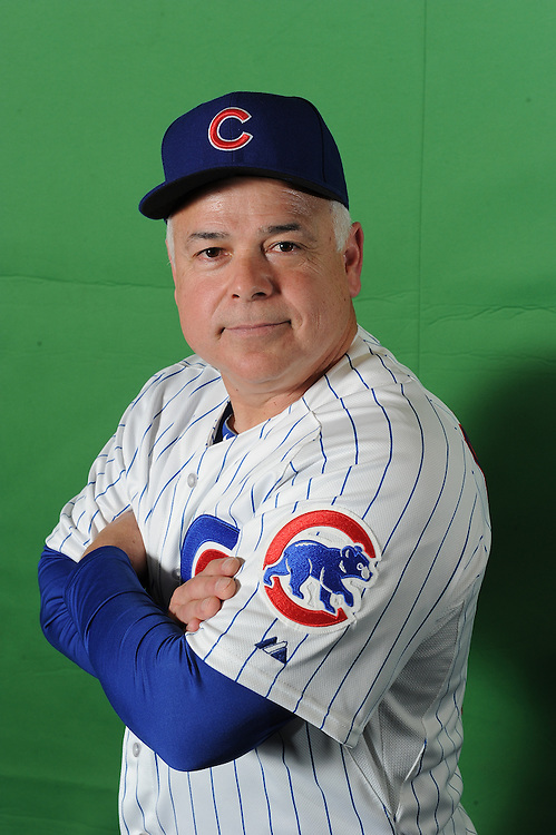 Rick Renteria press conference and portraits