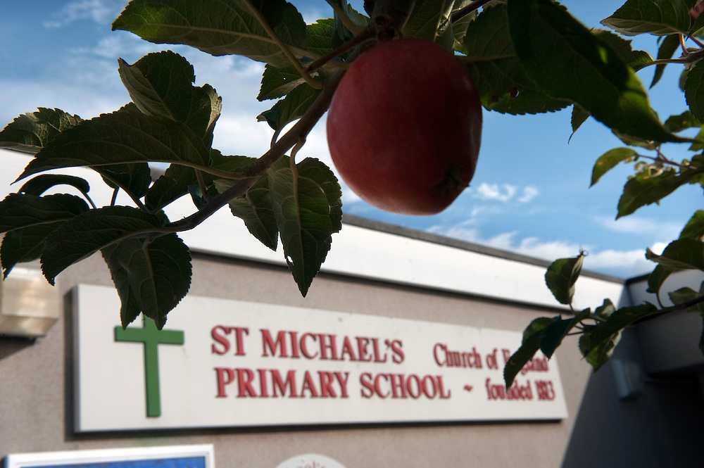St Michael's Church of England Primary School, Winterbourne, UK where JK Rowling first went to school.