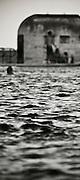 Selective focus view of Merwether Ocean Baths (Pool), East Coast Australia