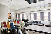 The interior of a loft at 43 Clarkson Street in Soho, New York City, designed by architect Michael Rabin.