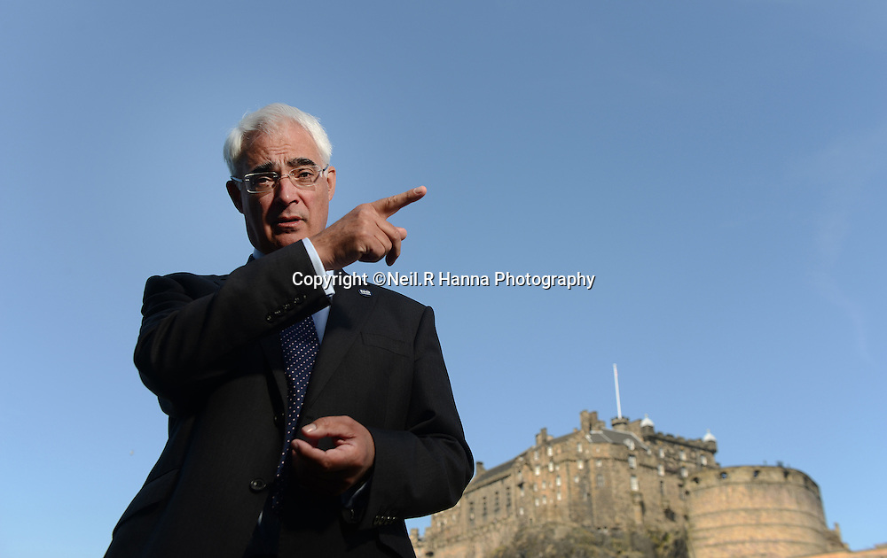 Scottish Referendum- Better Together<br /> <br /> Better Together Leader, Alistair Darling on the roof terrace of the Apex International Hotel,  overlooking Edinburgh Castle and in conversation.<br /> <br /> <br /> <br /> Neil Hanna Photography<br /> www.neilhannaphotography.co.uk<br /> 07702 246823