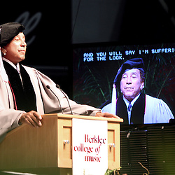 """...And you will say I'm suffering for the look"" says Smoky Robinson during his address to more than 850 Berklee's graduates and guest at the Commencement ceremony, May 9 2009."
